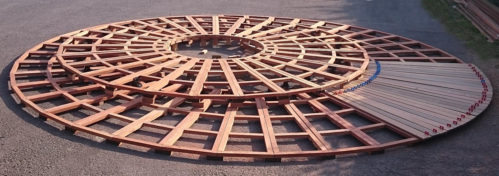 Tasseau Bois Exotique Exterieur lambourde bois exotique 60 x 40 mm - s.m bois.
