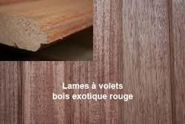 lame volet bois rouge 27 mm s m bois. Black Bedroom Furniture Sets. Home Design Ideas
